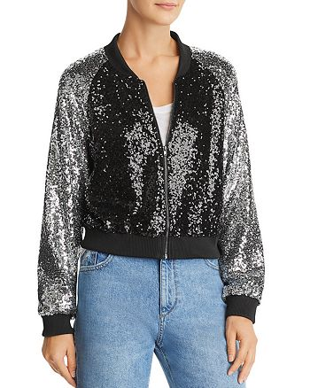 Lucy Paris - Sequined Bomber Jacket