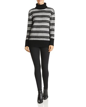 C by Bloomingdale's - Jacquard Cashmere Turtleneck Sweater - 100% Exclusive
