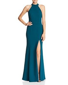 AQUA - Fluted Crepe Gown - 100% Exclusive
