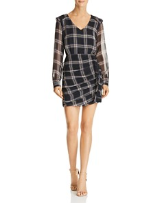 Heartloom - Anthea Ruched Plaid Dress