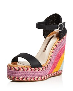 Sophia Webster - Women's Lucita Multicolor Wedge Espadrille Sandals