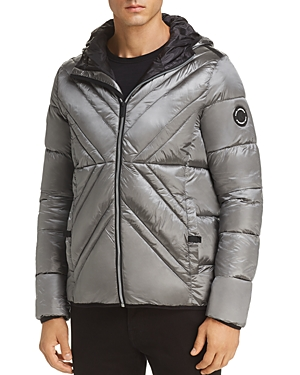 Karl Lagerfeld Paris X-Quilted Puffer Jacket