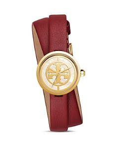 Tory Burch - The Reva Red Wrap Strap Watch, 28mm