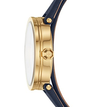 Tory Burch - The Reva Blue Wrap Strap Watch, 28mm