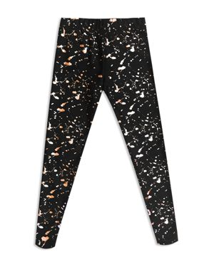 Terez Girls' Gold Splatter Foil Leggings - Big Kid