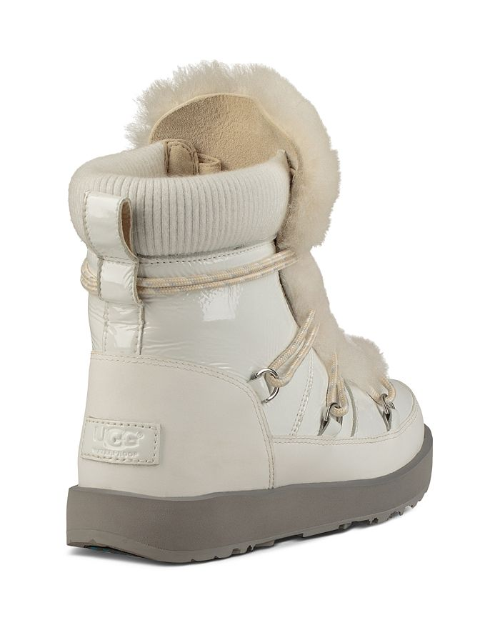 dfdee801db4 Women's Highland Round Toe Leather & Sheepskin Waterproof Boots