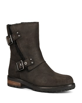 UGG® - Women's Niels II Round Toe Suede & Sheepskin Boots