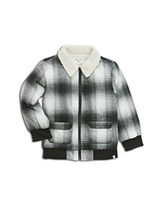 Sovereign Code - Boys' Plaid Jacket with Sherpa Collar - Little Kid, Big Kid