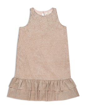 d237d520e kate spade new york - Girls' Ruffled Metallic Crepe Dress - Big Kid ...