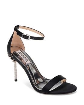 Badgley Mischka - Women's Vicia Embellished Satin High-Heel Sandals