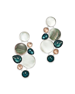 Ippolita Sterling Silver Wonderland Moroccan Dusk Mother-of-Pearl, Clear Quartz & Shell Chandelier E