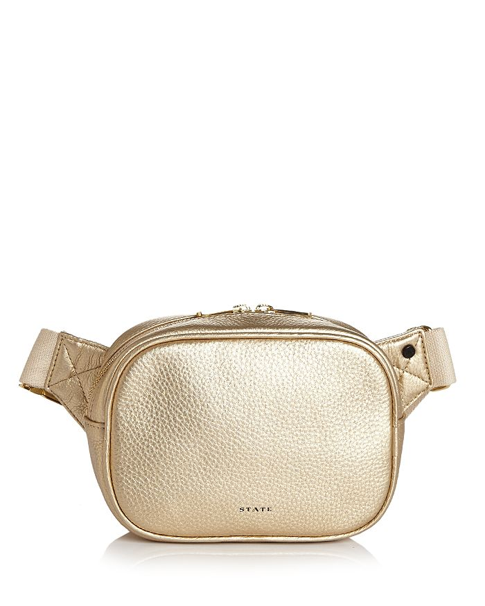 STATE - Crosby Metallic Leather Belt Bag