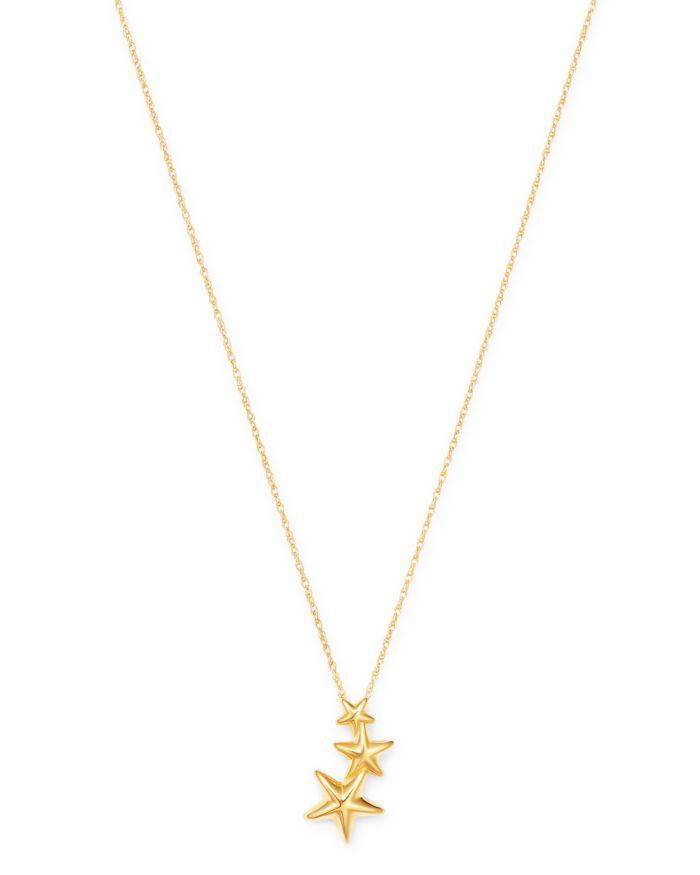 Bloomingdale's Triple Shooting Star Pendant Necklace in 14K Yellow Gold - 100% Exclusive    Bloomingdale's