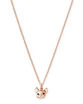 "Dodo - French Bulldog Pendant Necklace, 15.7"""