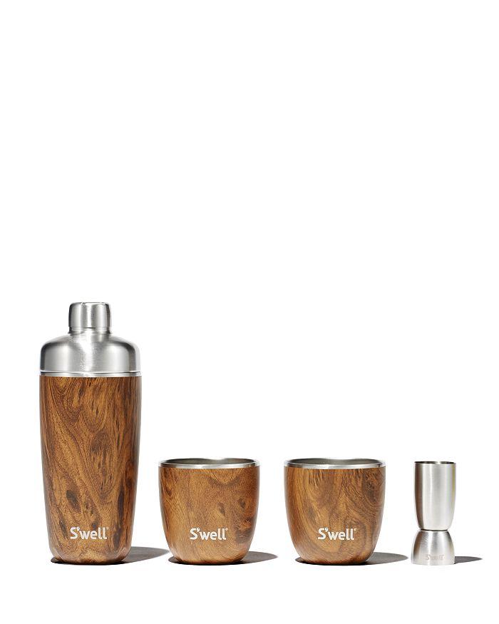 S'well - Teakwood 4-Piece Barware Set
