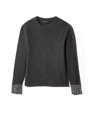 C by Bloomingdale's Embellished-Sleeve Cashmere Sweater - 100% Exclusive