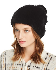 Maximilian Furs - Knit Rex Rabbit Fur Hat - 100% Exclusive