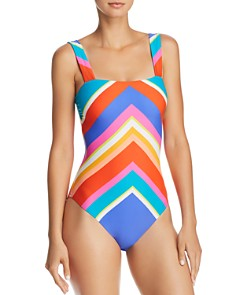 Trina Turk - Sunset Chevron One Piece Swimsuit