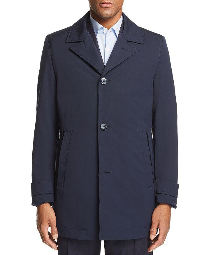 HUGO - Midais Raincoat w/ Faux Leather Undercollar