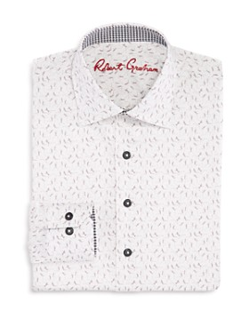 Robert Graham - Boys' Skeleton-Print Shirt - Big Kid