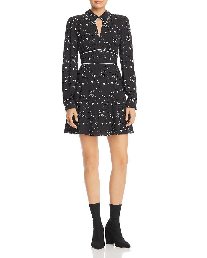Parker - Kaylin Heart-Print Mini Dress