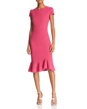 Betsey Johnson Puff Sleeve Scuba Crepe Dress