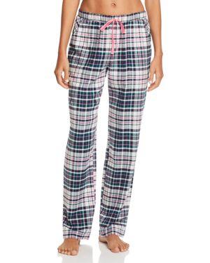 JANE & BLEECKER NEW YORK Printed Flannel Pants in Multi Plaid