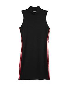 Miss Behave - Girls' Toby Ribbed Athletic Stripe Dress - Big Kid