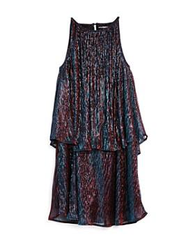 Miss Behave - Girls' Paris Tiered Metallic Dress - Big Kid