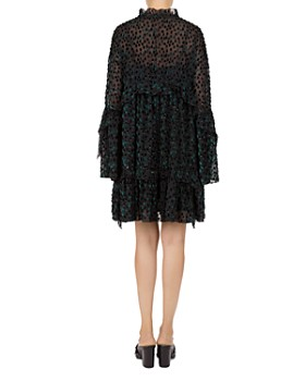The Kooples - liss Garden Velvet Dot Shift Dress