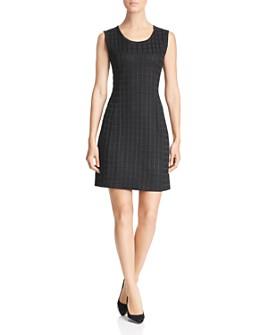 Misook - Textured Check Knit Dress