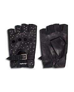 The Kooples - Studded Fingerless Leather Gloves