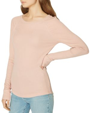 Kenzie Thermal Pullover, Pink Scotch