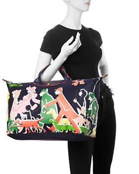Longchamp - Nylon Weekender Bag