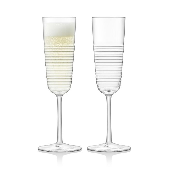 LSA - Groove Champagne Flute, Set of 2