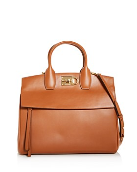 cf13598f0826 Salvatore Ferragamo - Studio Bag Leather Satchel ...