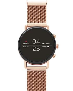 Skagen - Falster 2 Rose Gold-Tone Mesh Smartwatch, 40mm
