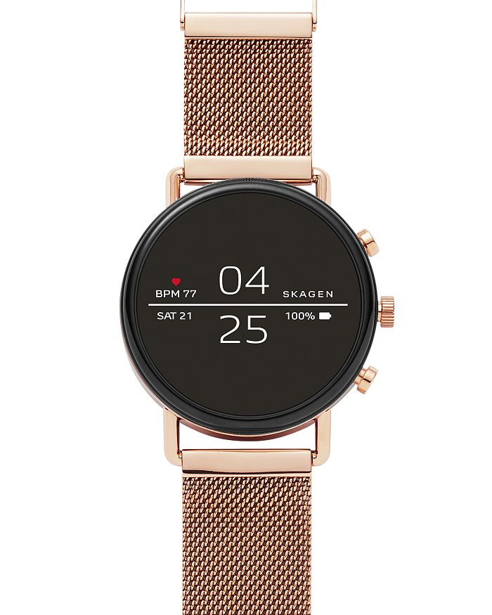 Skagen FALSTER 2 ROSE GOLD-TONE MESH SMARTWATCH, 40MM