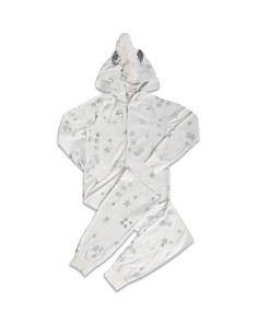 PJ Salvage - Girls' Star-Print Unicorn Pajamas - Little Kid, Big Kid