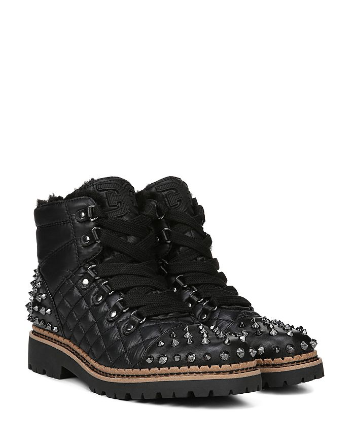 97fcc296bcc30 Sam Edelman - Women s Bren Quilted Studded Hiking Boots