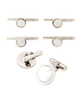 David Donahue - Mother-of-Pearl Shirt Stud & Cufflink Set