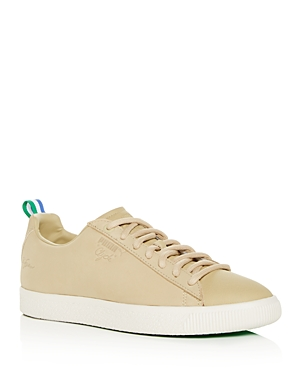 Puma Men's Clyde Leather Lace-Up Sneakers