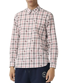 Burberry - Edward Equestrian Knight-Print Regular Fit Shirt ... 12c24b78f2e