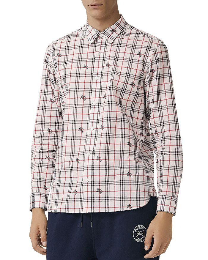 Burberry - Edward Equestrian Knight-Print Regular Fit Shirt