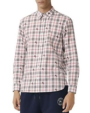 Burberry Edward Equestrian Knight-Print Regular Fit Shirt