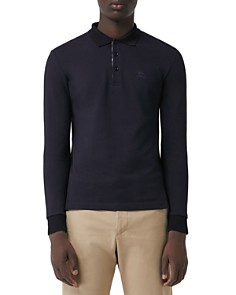 Burberry - Hartford Long-Sleeve Pique Polo Shirt