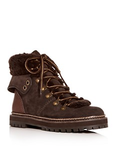 See by Chloé - Women's Shearling Hiking Boots