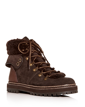 See by Chloe Women's Shearling Hiking Boots