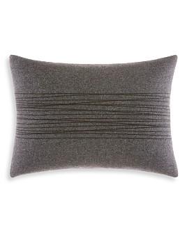 """Vera Wang - Burnished Quartz Charcoal Thick Thread Stitch Breakfast Pillow, 12"""" x 16"""""""