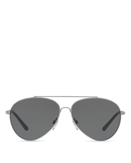 Burberry - Mirrored Check Aviator Sunglasses, 57mm